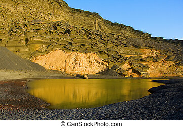 Playa del Lago Verde, in Lanzarote, Canary Islands, Spain