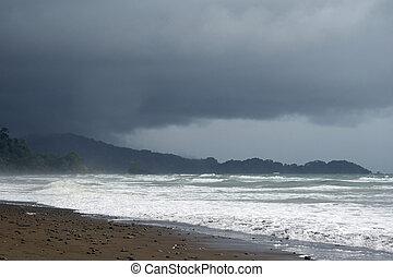 Playa Dominical, Costa Rica - Wild weather over Playa...