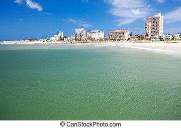 playa, elizabeth, áfrica, puerto, sur