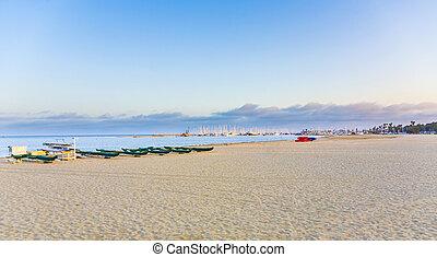 playa, en, santa barbara