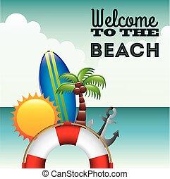 playa, icono