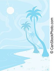 playa, ilustración