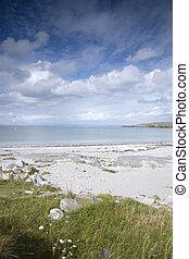 playa, inishmore;, aran, kilmurvey, islas