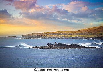 playa, isla de pascua