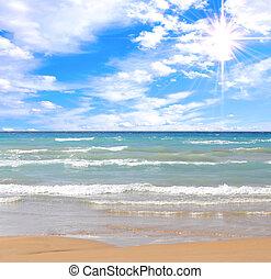 playa, magnífico