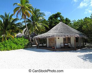 playa, maldivian, bungalow