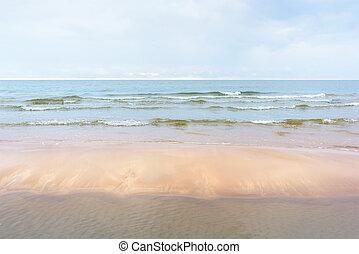 playa, mar, arenoso, naturaleza