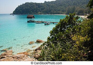 playa, mar, paraíso