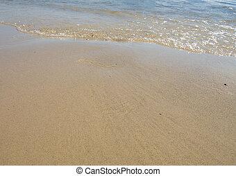 playa, natural, armonía, mar, ondas