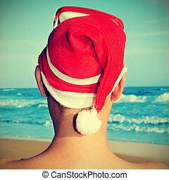 playa, navidad