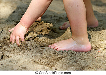 playa, niño