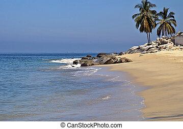 playa, océano pacífico