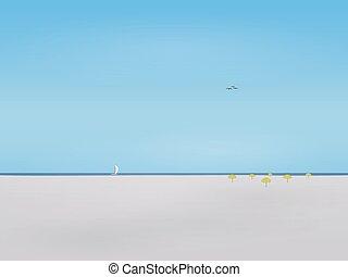 playa, olvidado