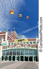 playa, parque, vestíbulo, asbury, convención