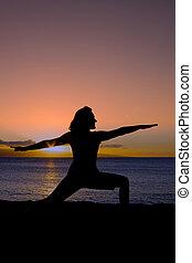 playa puesta sol, yoga