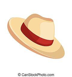 playa, sombrero de panamá, icono