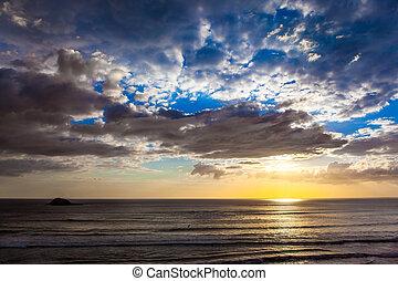 playa, sunset., muriway
