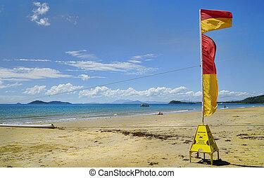 playa tropical, misión, paraíso