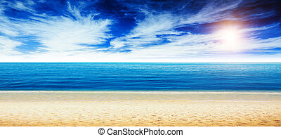 playa tropical, océano