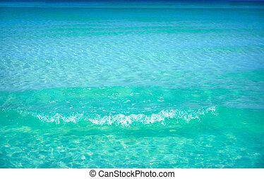 playa tropical, turquesa, agua, textura