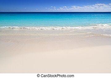 playa tropical, turquesa, caribe, agua