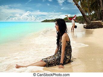playa tropical, vacaciones