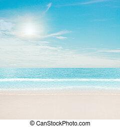 playa tropical, y, océano