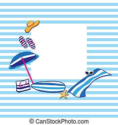 playa, verano, accesorios