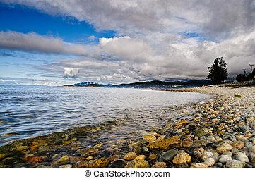 playa, vista oceánica
