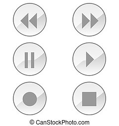Icons resembling those of a popular mp3 player for the typical playback functions