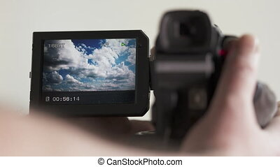 Playback of recorded movies on LCD screen of digital Mini DV...