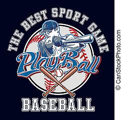 PlayBall baseball vector - baseball sport vector for shirt...