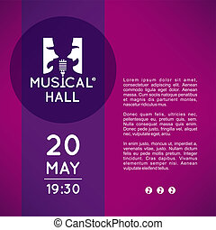 Playbill for musicals theater - Vector: Poster with logo of...
