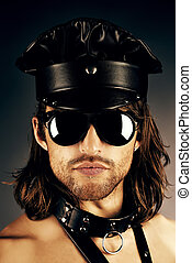 playboy - Portrait of a seductive handsome man wearing...