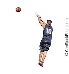 player and basketball