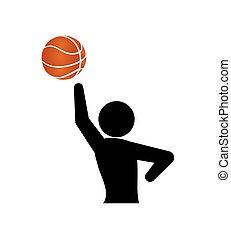 player basketball jump silhouette