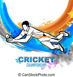 Player fielding in cricket championship