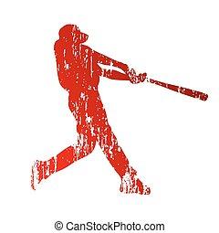 player., grunge, base-ball