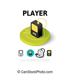 Player icon in different style