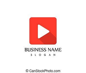 Player icon logo vector