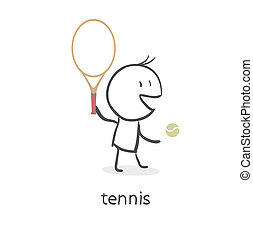 Player in tennis