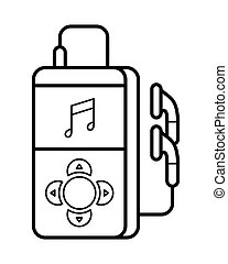 Player line art, simple gadget icon