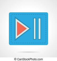 Player next button flat color design vector icon