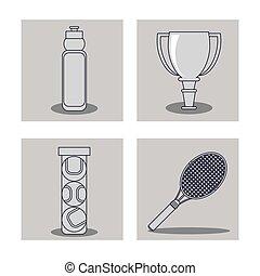 Player of tennis sport design