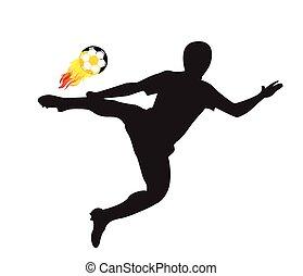 Player shot the fire ball