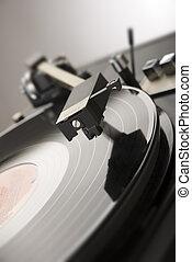 player - close up shot of vinyl player vertical