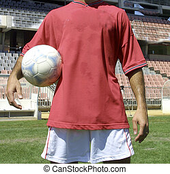 player with ball in hand