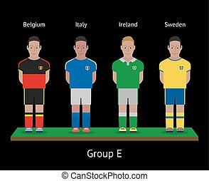 players., ιταλία , ποδόσφαιρο , σουηδία , teams., ιρλανδία , βέλγιο , ποδόσφαιρο