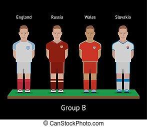 players., ποδόσφαιρο , αγγλία , slovakia , teams., ρωσία , ποδόσφαιρο , αυλακώ