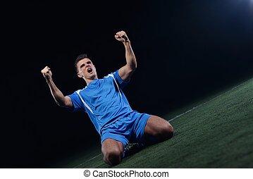 players, футбольный, победа, celebrating